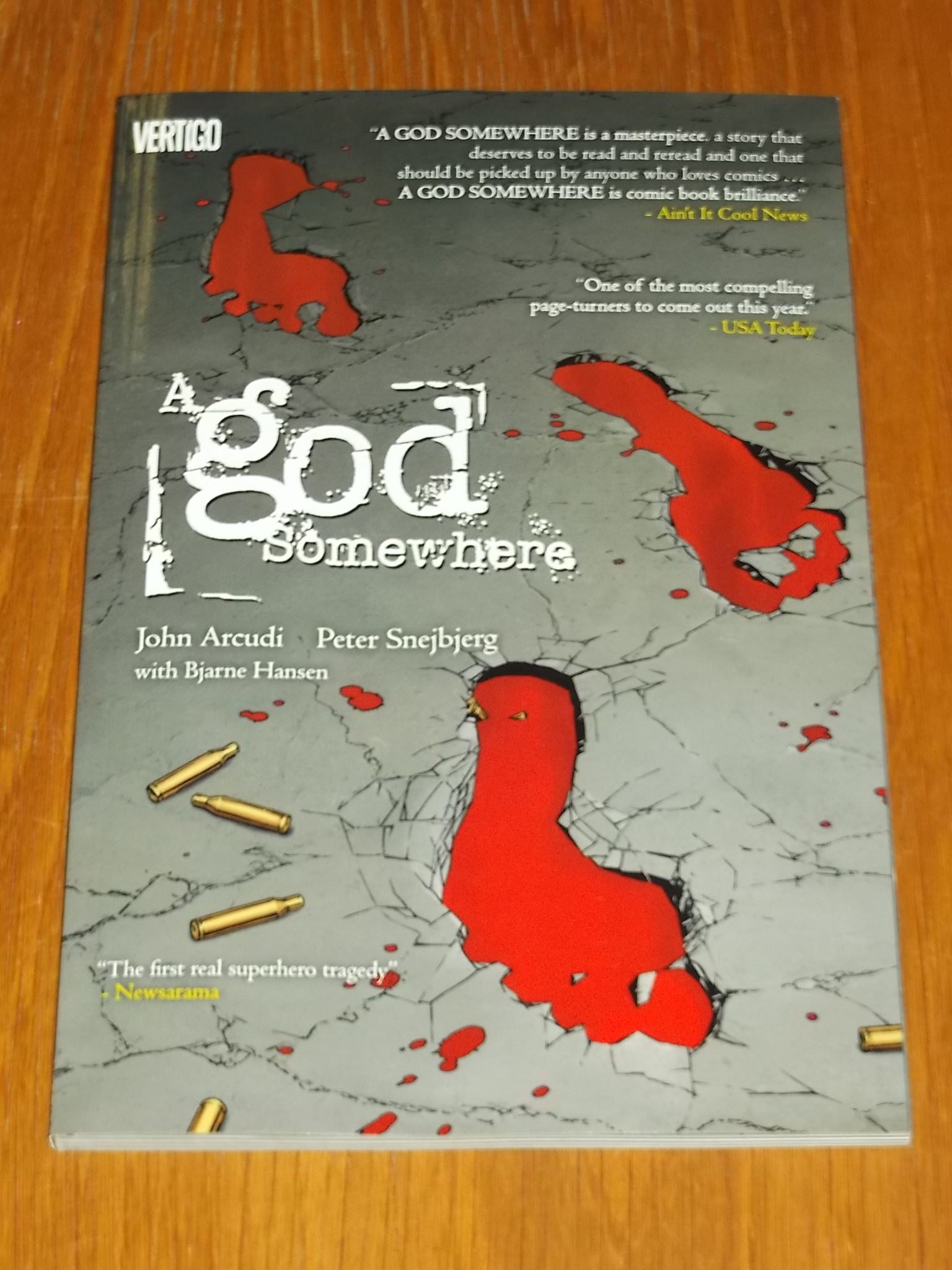 A GOD SOMEWHERE JOHN ARCUDI PETER SNEJBJERG BJARNE HANSEN VERTIGO< 9781401232467